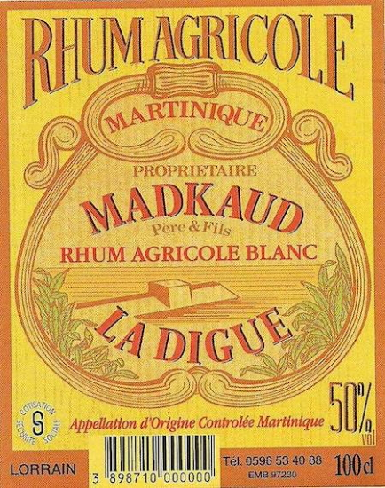 étiquette Madkaud La digue RW SITE